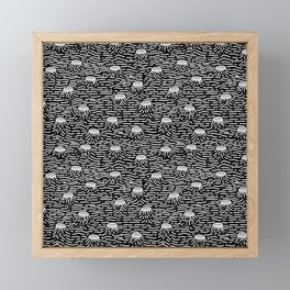 Dark Moon Surface Framed Mini Art Print
