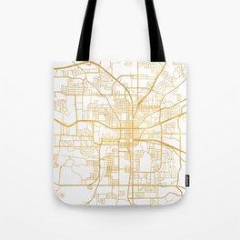 TALLAHASSEE FLORIDA CITY STREET MAP ART Tote Bag