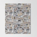 Mixed Dog lots of dogs dog lovers rescue dog art print pattern grey poodle shepherd akita corgi by petfriendly