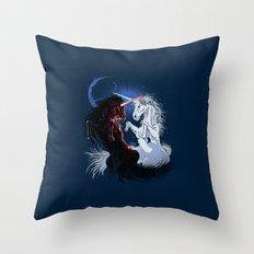 Unicorn Wars Throw Pillow