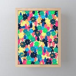Flowers and pineapples Framed Mini Art Print
