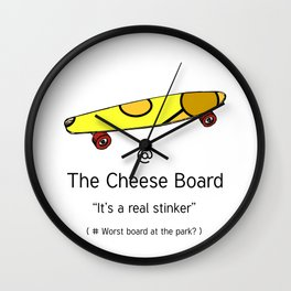 The Cheese Board Wall Clock