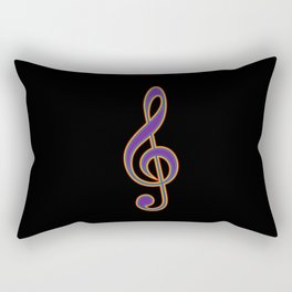 Rainbow G Clef Treble Clef Music Lover Musician Rectangular Pillow