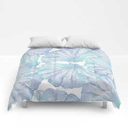 Shell Ya Later - Turquoise Seashell Pattern Comforters