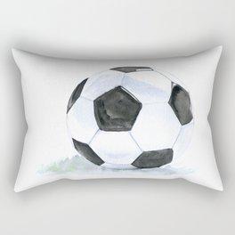 Soccer Ball Watercolor Rectangular Pillow