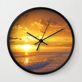 Not Yet - Sunset Art By Sharon Cummings Wall Clock
