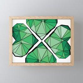 Geometrick lucky charm Framed Mini Art Print