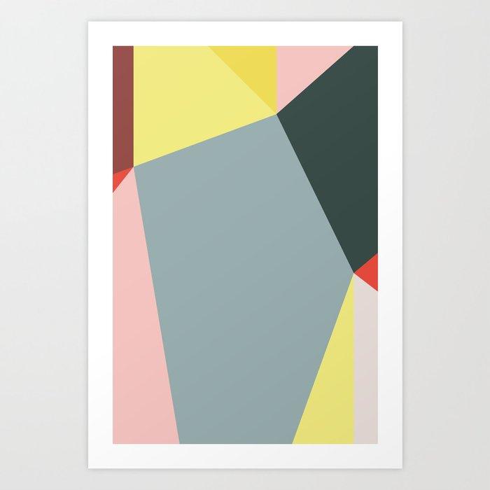 Polygonal Composition n° 4 Art Print