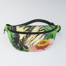 Butterfly on Zinnia 4 Fanny Pack