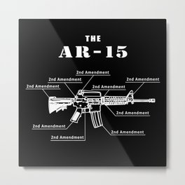 Second Amendment Metal Print