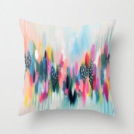 EttaVee Brushstroke No.109 Throw Pillow