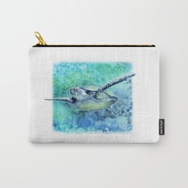 Swimming Turtle In Watercolor Carry-All Pouch
