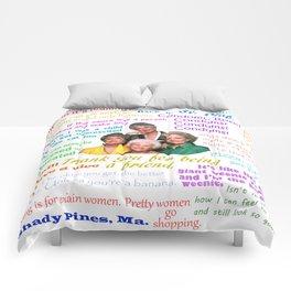 Golden Girl Quotes Comforters
