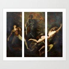 Modern Triptych: Digital Theodore meets the Spectre Art Print