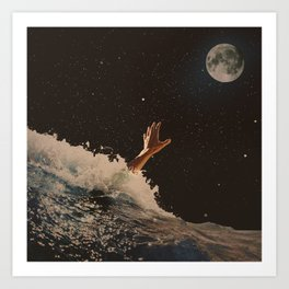 Wave goodbye Art Print