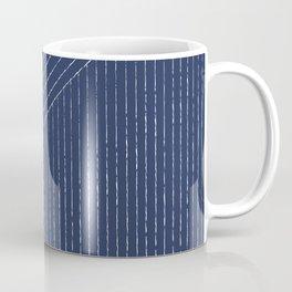 Lines / Navy Coffee Mug