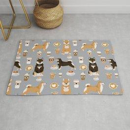 Shiba Inu coffee dog breed pet friendly pet portrait coffees pattern dogs Rug