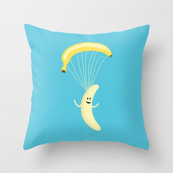 Bananachute Throw Pillow