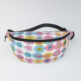 Fiesta Watercolor Flowers Fanny Pack