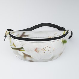 White blooming Fanny Pack