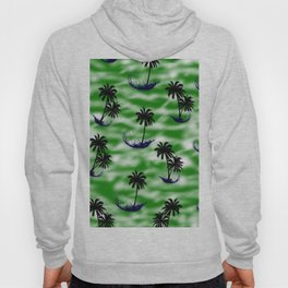 Green Beach Pattern Hoody