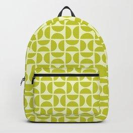 HALF CIRCLES, CHARTREUSE Backpack