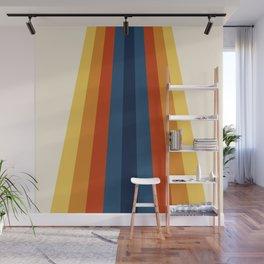 Bright 70's Retro Stripes Wall Mural