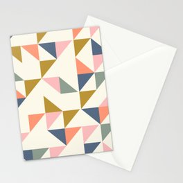 Floating Triangle Geometry Stationery Cards