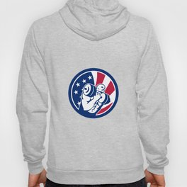 American Gym Circuit USA Flag Icon Hoody