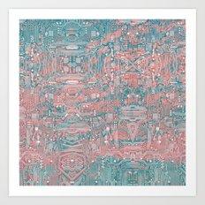 Circuitry Details 2 Art Print