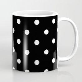 Black & White Polka Dots Coffee Mug