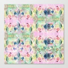 Ysmite Argate-crystal, floral, pastel, abstract Canvas Print