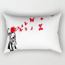 banksy gun Rectangular Pillow