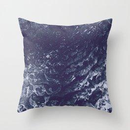 Indigo Waters Throw Pillow