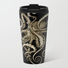 Octopsychedelia Sepia Metal Travel Mug