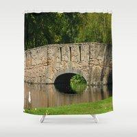amy pond Shower Curtains featuring Pond by Chris' Landscape Images & Designs