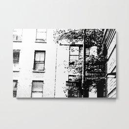 Bleecker & Mott Street Metal Print