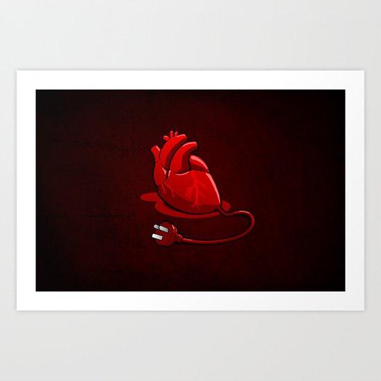 Unplug my Heart Art Print