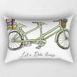Let's Ride Away Rectangular Pillow