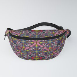 297 yellow, pink , blue burgundy Fanny Pack