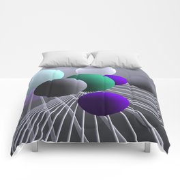 converging lines and balls -1- Comforters
