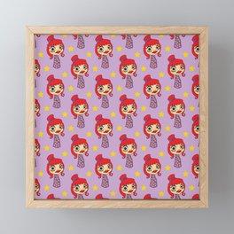 Japanese doll Framed Mini Art Print