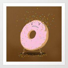 Itchy Donut Art Print