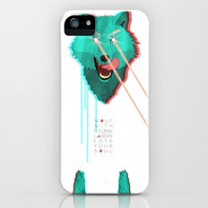 Wolf With F**king lasers Slim Case iPhone (5, 5s)