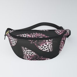 Butterflies On A Black Background #decor #society6 Fanny Pack