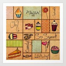 Sweet Things! Art Print