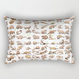 100 otters Rectangular Pillow