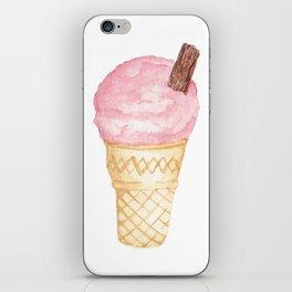 Watercolour Illustrated Ice Cream - Berries on Ice iPhone Skin