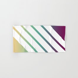 Retro Stripes on Color Gradient Hand & Bath Towel