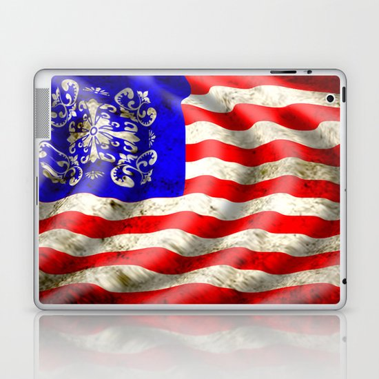 A wavy American flag Laptop & iPad Skin